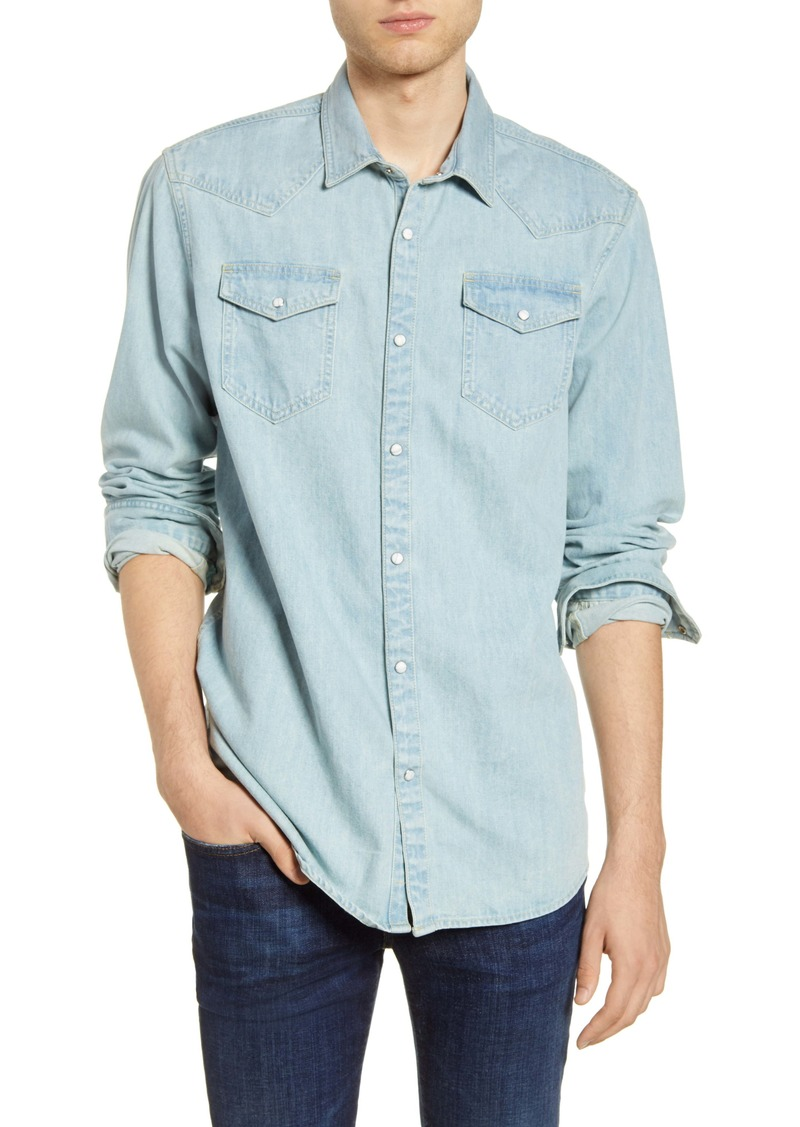 Scotch & Soda Denim Snap-Up Western Shirt