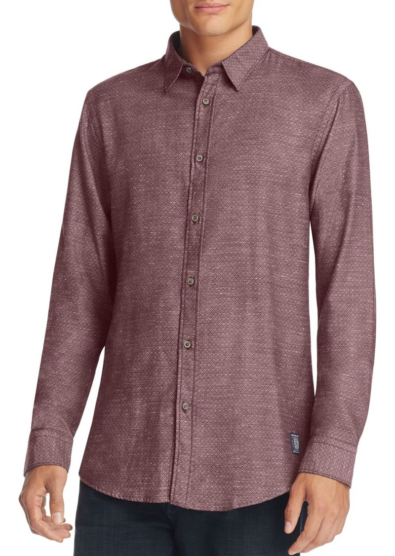 Scotch & Soda Diamond Jacquard Slim Fit Button-Down Shirt