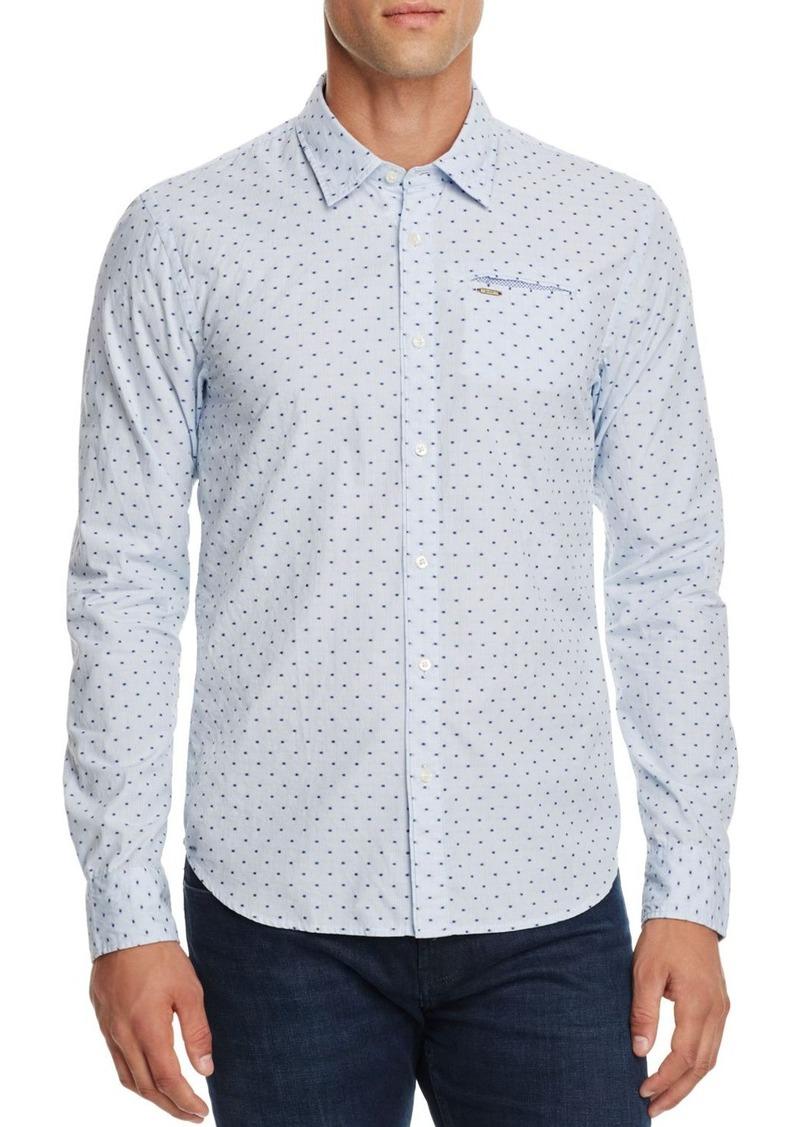 Scotch & Soda Dot Print Slim Fit Button-Down Shirt