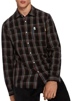 Scotch & Soda Double Pocket Plaid Shirt