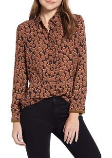 Scotch & Soda Drapey Fit Leopard Print Shirt