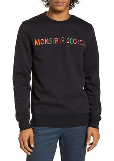 Scotch & Soda Embroidered Crewneck Sweatshirt