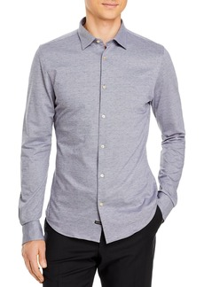 Scotch & Soda Embroidered Slim Fit Button-Down Shirt