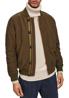 Scotch & Soda Faux Fur Lined Bomber Jacket