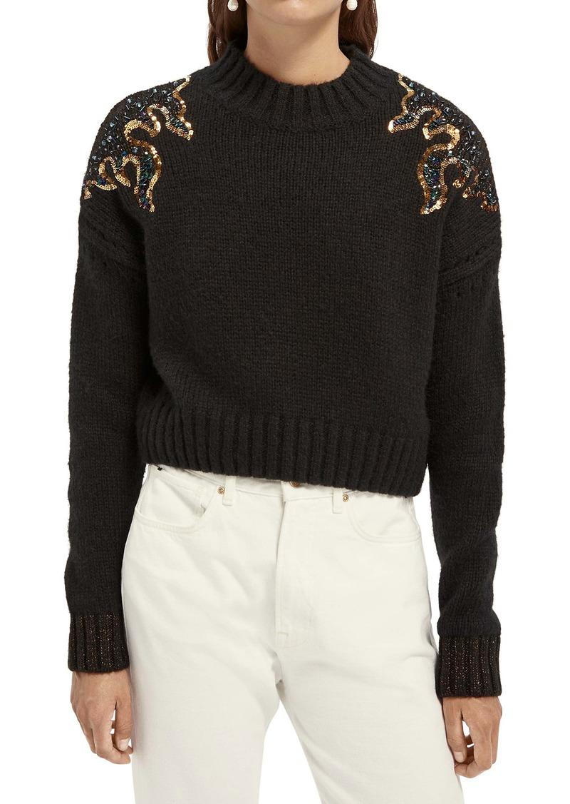 Scotch & Soda Flame Sequin Sweater