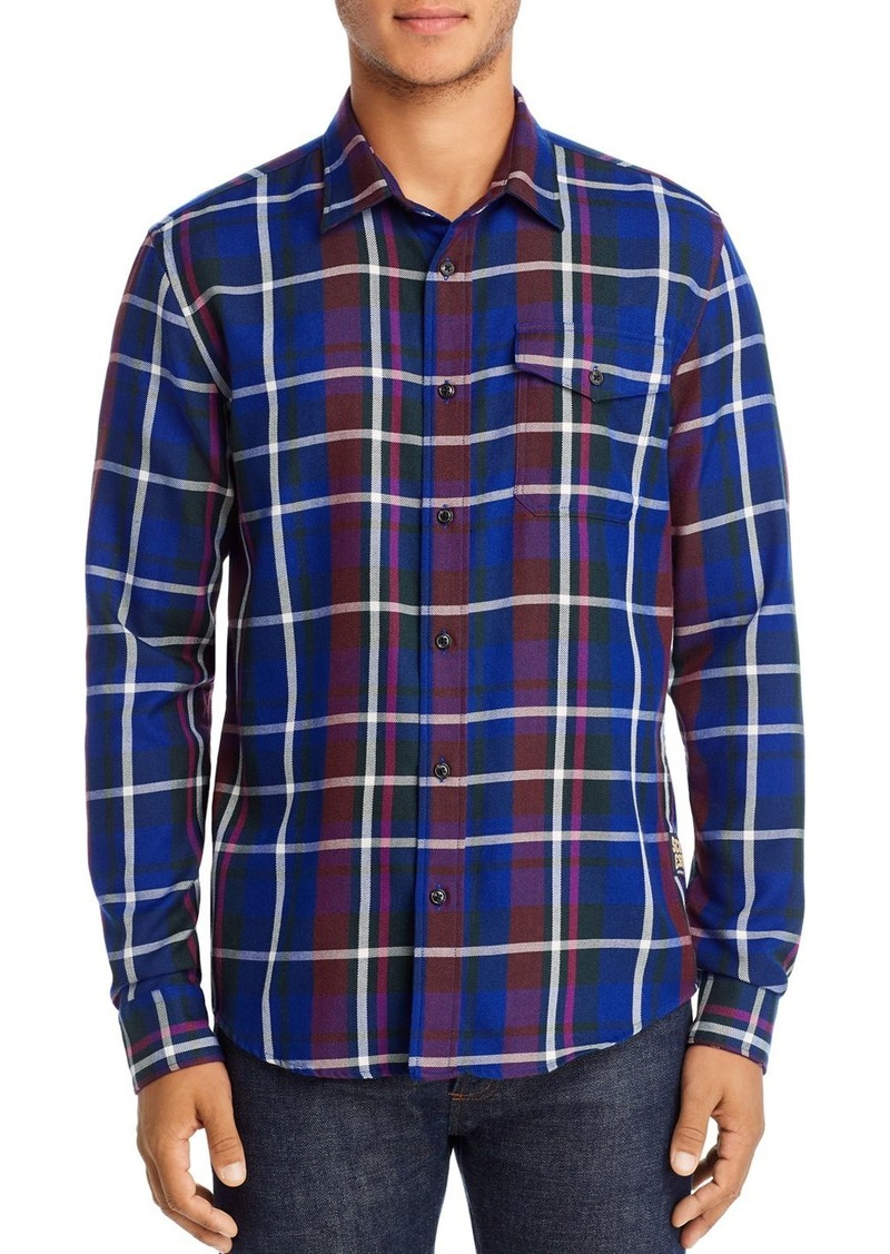 Scotch & Soda Flannel Regular Fit Plaid Shirt