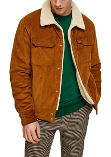 Scotch & Soda Fleece Lined Corduroy Trucker Jacket