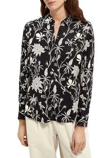Scotch & Soda Floral Button-Up Shirt