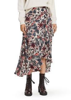 Scotch & Soda Floral Print Wrap Skirt