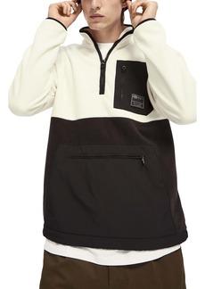 Scotch & Soda Half Zip Fleece Pullover