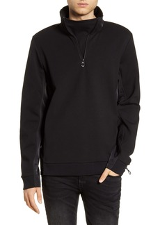 Scotch & Soda Half Zip Funnel Neck Pullover