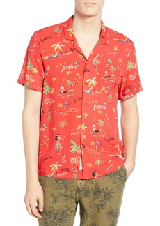 Scotch & Soda Hawaiian Fit Aloha Print Camp Shirt