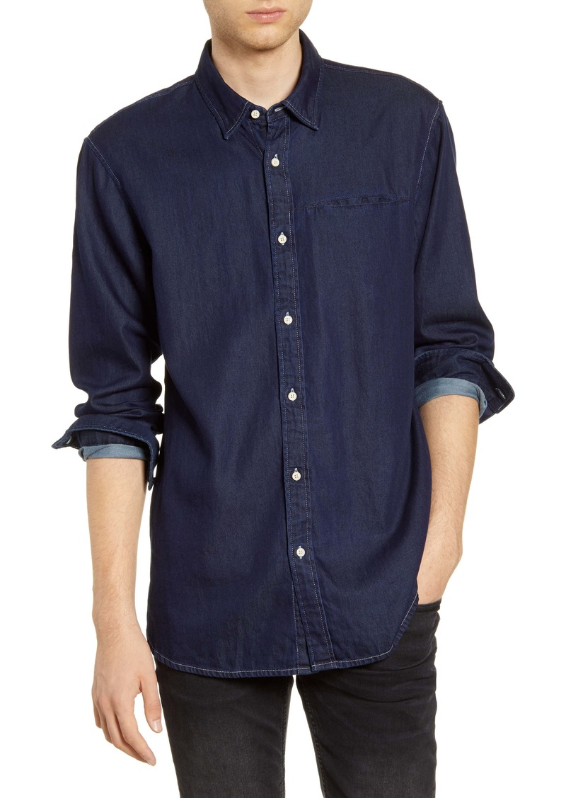 Scotch & Soda Indigo Button-Up Shirt