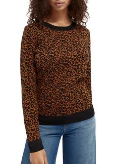 Scotch & Soda Intarsia Cheetah Spot Sweater