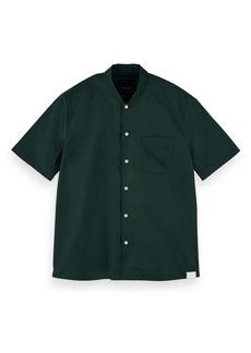 Scotch & Soda Island Slim Fit Short Sleeve Button-Up Shirt