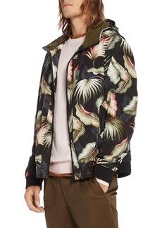 Scotch & Soda Leaf Print Hooded Jacket