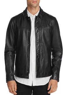 Scotch & Soda Leather Shirt Jacket - 100% Exclusive