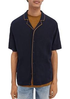 Scotch & Soda Linen Blend Button-Up Sweater Shirt