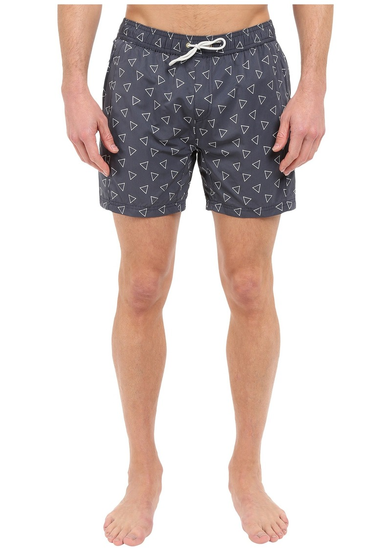 Scotch & Soda Medium Length Swim Shorts with Cut & Sewen Parts in 4 Solids