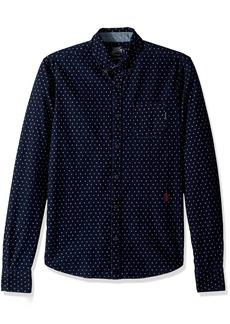 Scotch & Soda Men's AMS Blauw Allover Printed Button Down Shirt  L