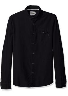 Scotch & Soda Men's AMS Blauw Clean Oxford Shirt with Chest Pocket  M