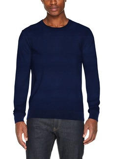 Scotch & Soda Men's AMS Blauw Crew Neck Knit in Cotton Cashmere Quality  S