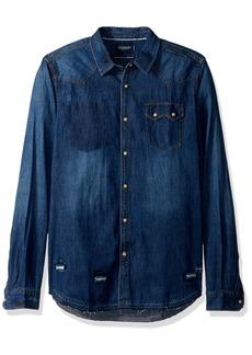 Scotch & Soda Men's AMS Blauw Premium Sawtooth Shirt in Regular Fit