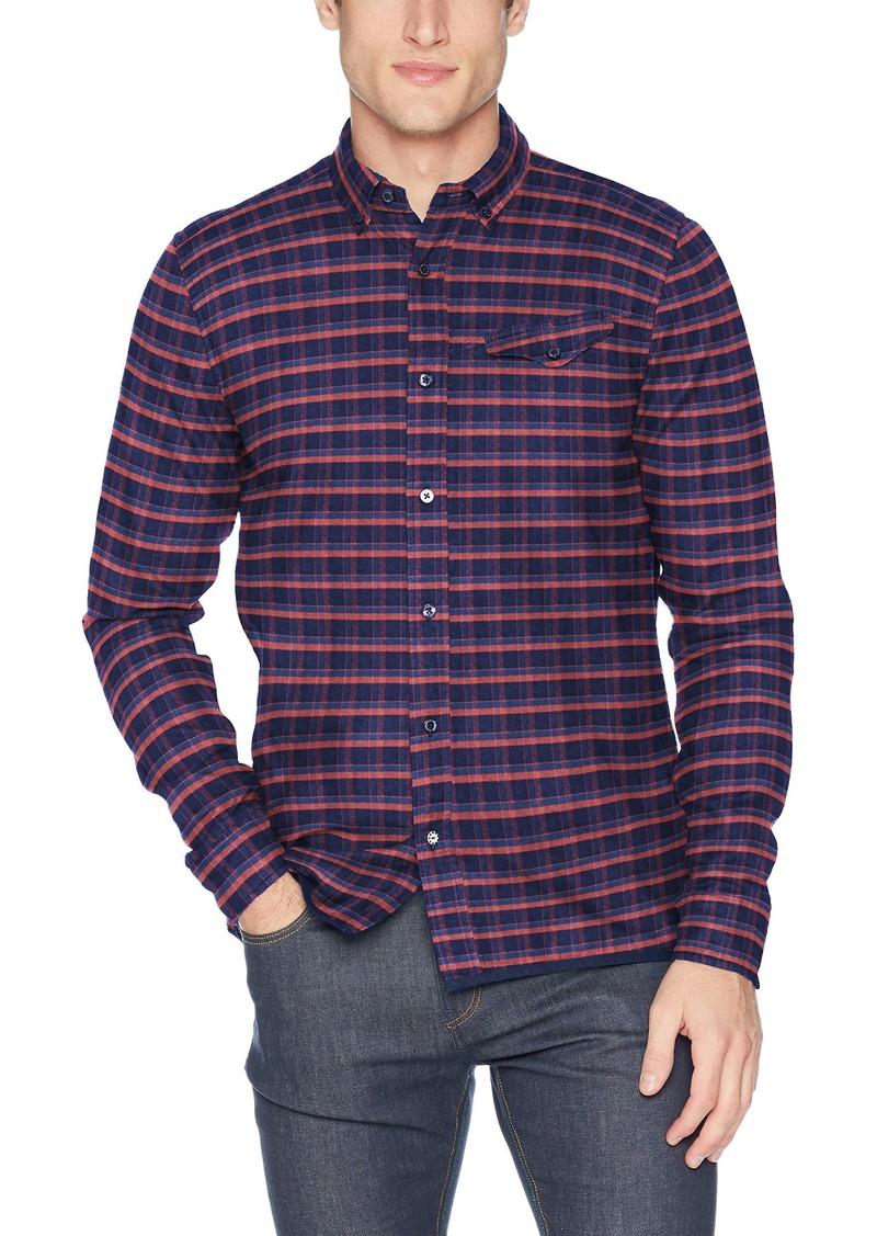Scotch & Soda Men's AMS Blauw Regular fit Pure Indigo Shirt Combo el M