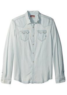 Scotch & Soda Men's AMS Blauw Sawtooth Shirt in Seasonal Washes  M