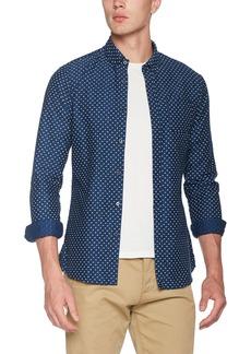 Scotch & Soda Men's AMS Blauw Slim Fit Allover Printed Shirt in Seasonal Pattern