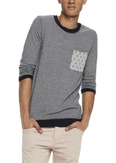 Scotch & Soda Men's Classic Crewneck Pullover in Soft Cotton Quality with Chest Combo A