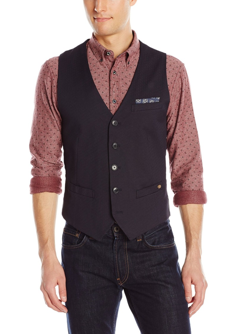 scotch soda scotch soda men 39 s classic gilet with fixed pocket b navy outerwear shop it to me. Black Bedroom Furniture Sets. Home Design Ideas