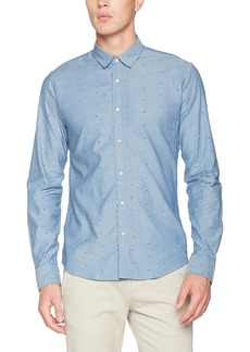 Scotch & Soda Men's Classic Oxford Shirt in Solids Or with All-Over Print  XXL