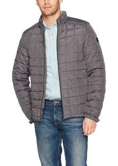 Scotch & Soda Men's Classic Padded Jacket in Nylon Quality with Square Quilting  L