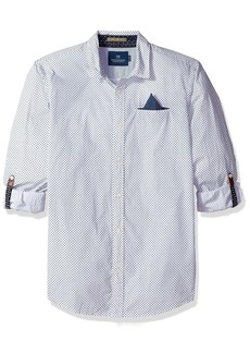 Scotch & Soda Men's Classic Shirt with Fixed Pochet and Sleeve Collectors Combo c S