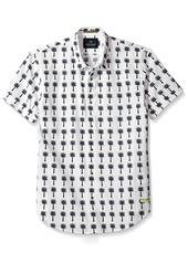 Scotch & Soda Men's Classic Shortsleeve Shirt in Crispy Poplin Quality with Mini