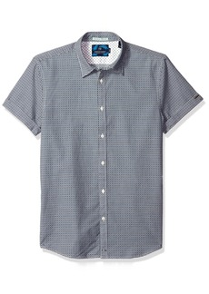 Scotch & Soda Men's Classic Shortsleeve Shirt in Structured Cotton Quality
