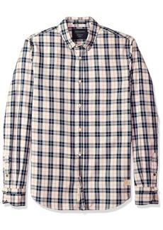 Scotch & Soda Men's Classic Twill Shirt in Yarn-Dyed Check Pattern  M