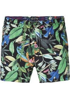 Scotch & Soda Men's Elasticated Swimshort with Colourful All-Over Print  S