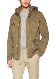 Scotch & Soda Men's Garment-Dyed Field Jacket with Heavy Spray Wash  M