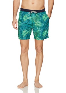 Scotch & Soda Men's Length Swim Short In Fine Peached Quality With Patter
