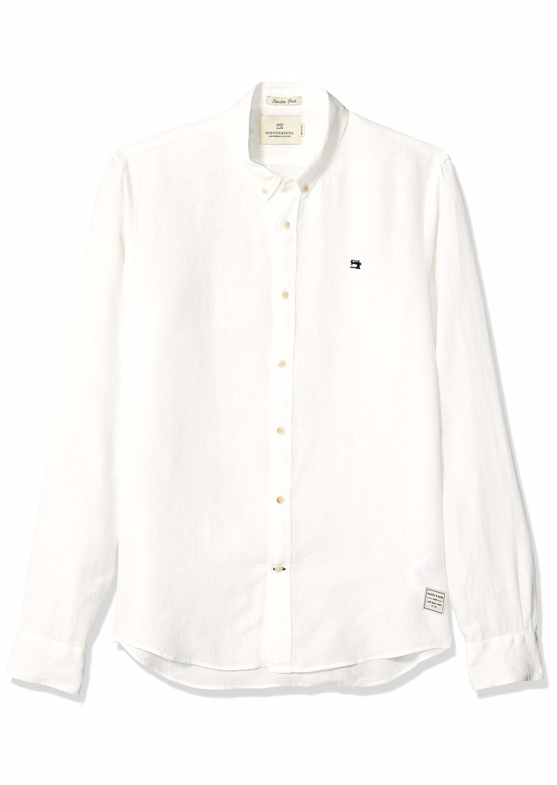 Scotch & Soda Men's Linen Shirt Regular Fit  L