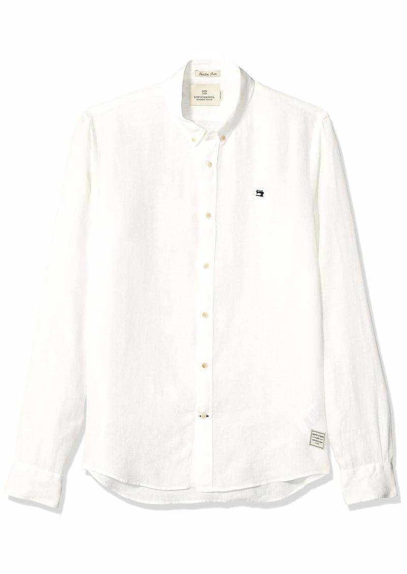Scotch & Soda Men's Linen Shirt Regular Fit  L