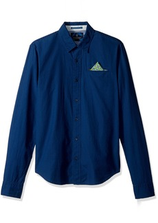 Scotch & Soda Men's Longsleeve Shirt in Lightweight Crispy Poplin Quality with F
