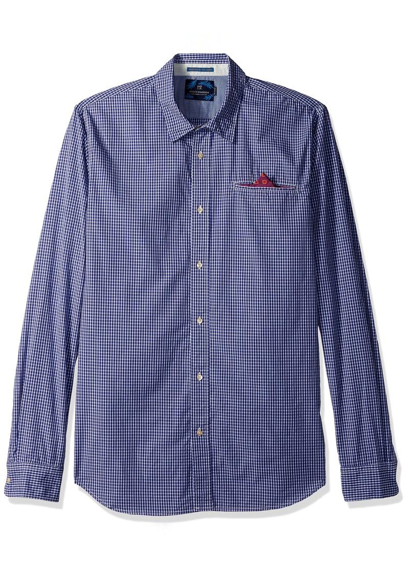 Scotch & Soda Men's Longsleeve Shirt in Lightweight Crispy Poplin Quality with F Combo A A