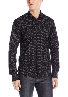 Scotch & Soda Men's Longsleeve Shirt with All-Over Printed Pattern