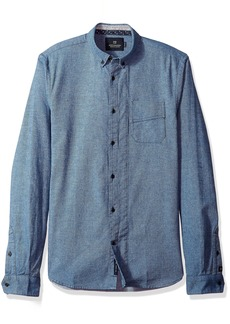 Scotch & Soda Men's Longsleeve Shirt with Neps and Chest Pocket  L