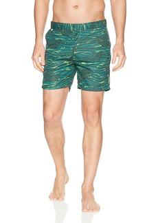 Scotch & Soda Men's Medium Length Swimshort in Sophisticated Patterns Combo el L