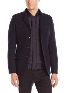 Scotch & Soda Men's Military Blazer with Built In Vest