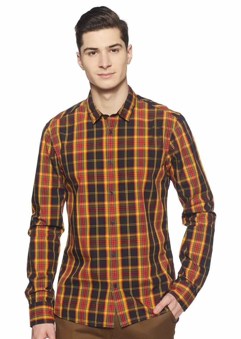 Scotch & Soda Men's Mini-Check Shirt Slim fit Combo el S